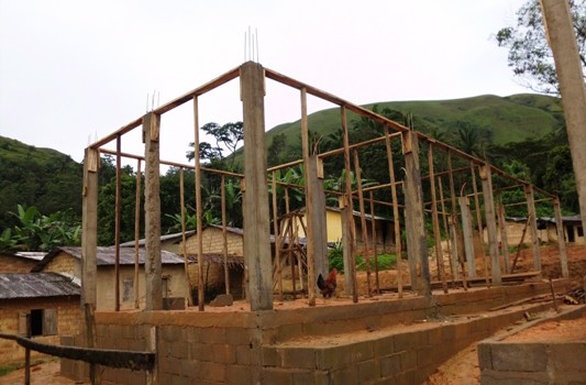 construction of open market sheds at Andek thanks  to PNDP