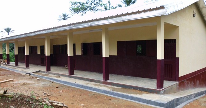 Two Modern Classrooms at GS Abangong By BIP