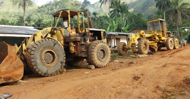 Equipments mobilized to rehabilitate Council Roads By Andek Council