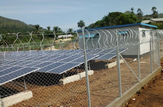 One of the Four Solar Stations to suppy Electricity to Andek, Teze,Bonanyang and Tinakoh